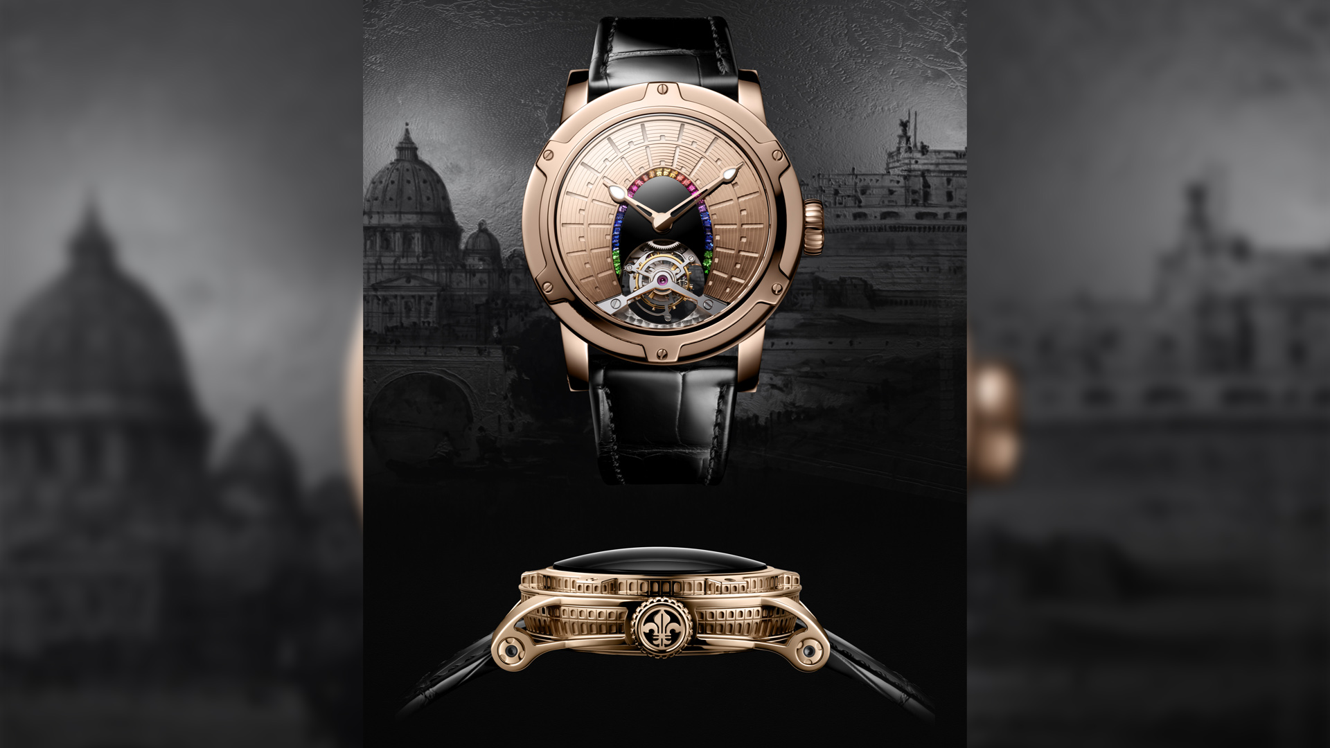 Exquisite watch collection dedicated to eight marvels of the world
