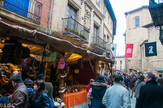 Mercado medieval en Santo Domingo de la Calzada. La Rioja