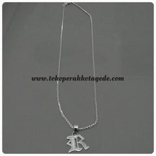 kalung inisial perak silver
