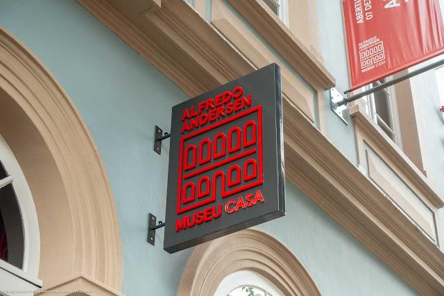 Museu Casa Alfredo Andersen - detalhe logotipo do museu