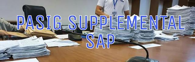 Pasig City starts supplemental SAP distribution
