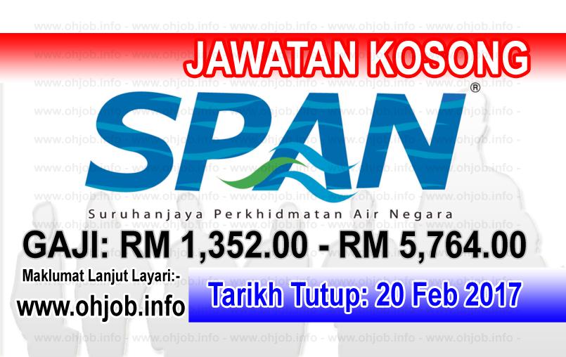Jawatan Kerja Kosong Suruhanjaya Perkhidmatan Air Negara (SPAN) logo www.ohjob.info februari 2017