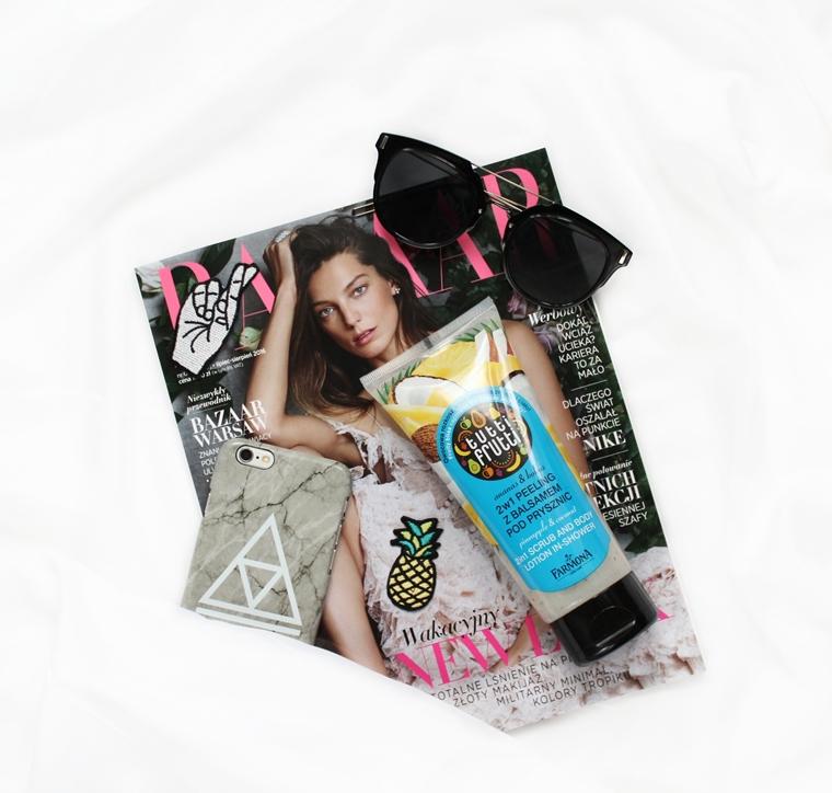Ulubieńcy Lipiec 2016 Farmona Tutti Frutti Peeling z balsamem pod prysznic