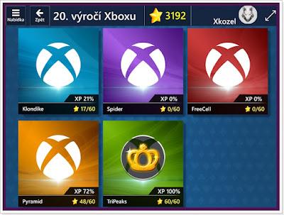 20. výročí Xboxu v Microsoft Solitaire