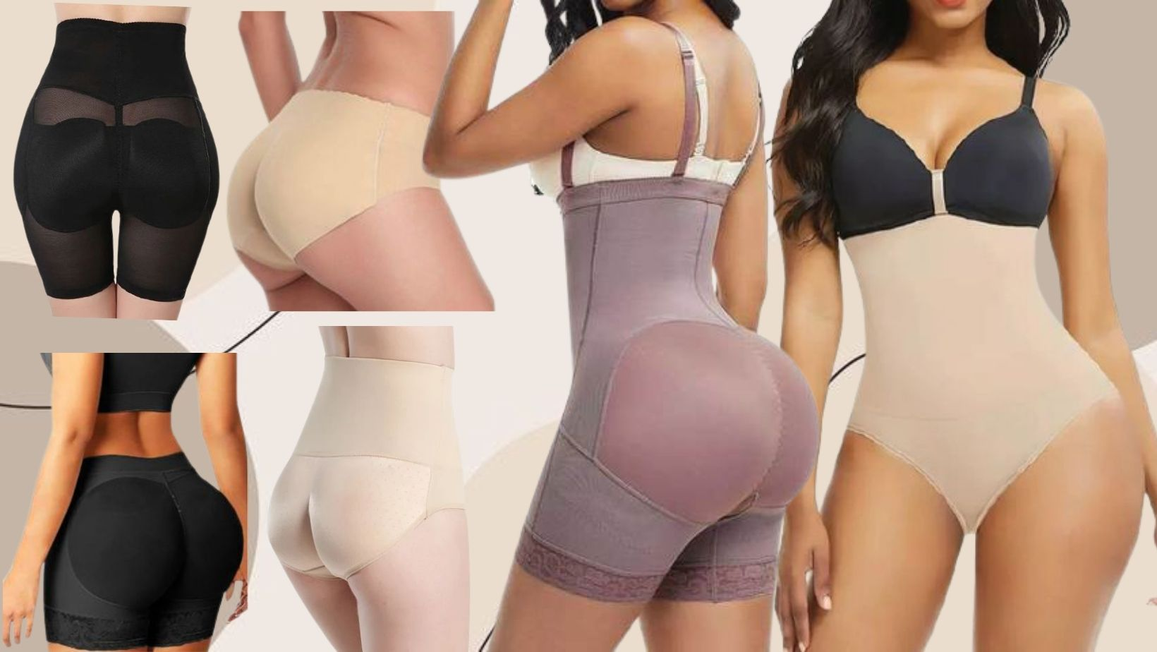 Comfortable but and hip enchancing shapewear shorts for women