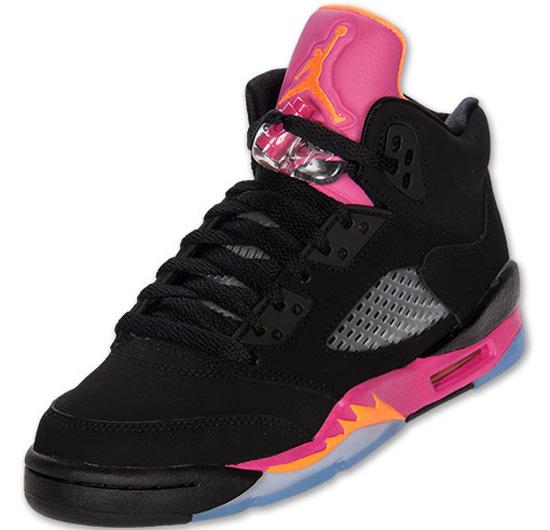1b54053feb4a3d ajordanxi Your  1 Source For Sneaker Release Dates  Girl s Air Jordan 5  Retro Black Bright Citrus-Fusion Pink Release Reminder