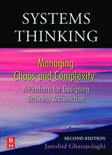 Systems Thinking, Managing Chaos and Complexity A Platform for Designing Business Architecture