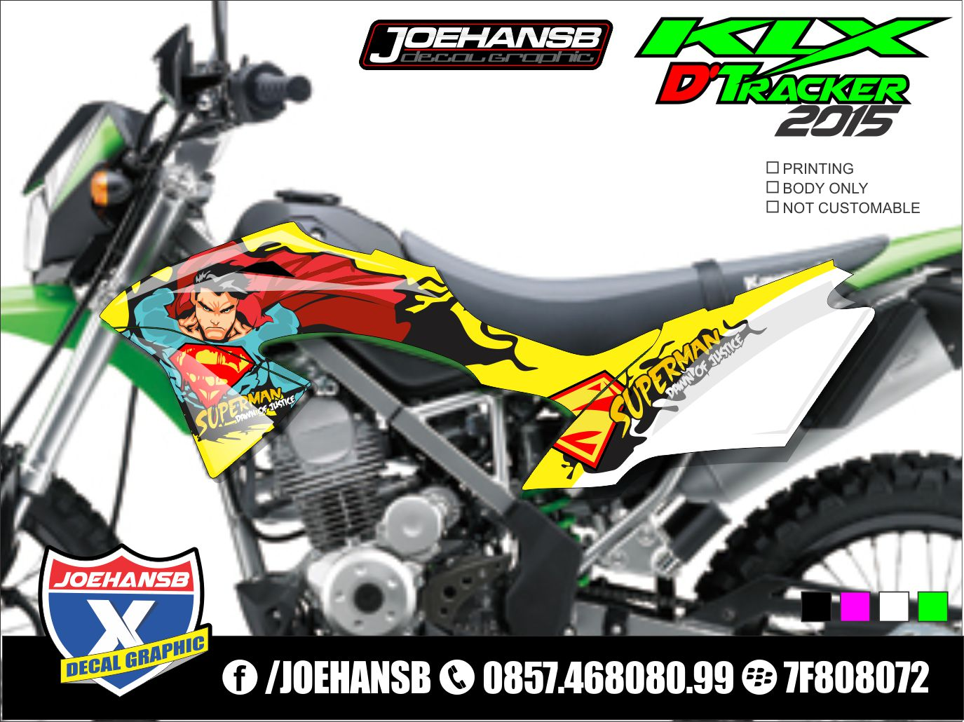 Jual decal motor update maret koleksi decal klx dtx new