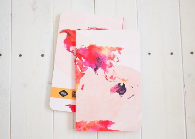 Denik watercolor map notebook