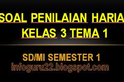 Download Soal Penilaian Harian Kelas 3 Tema 1