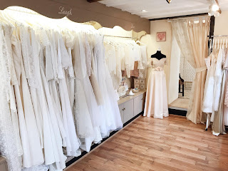 Over 100 original vintage wedding dress gowns in our bridal boutique shop in Bolton Lancashire manchester