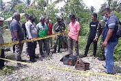 Benda Diduga Mortir Ditemukan Warga Lambaet, Polisi Pasang Police Line