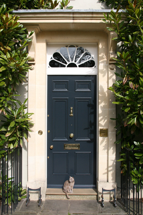 Classic Georgian Cotswold house Fired Earth Mercury front door