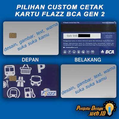 Pilihan custom cetak kartu Flazz BCA gen 2