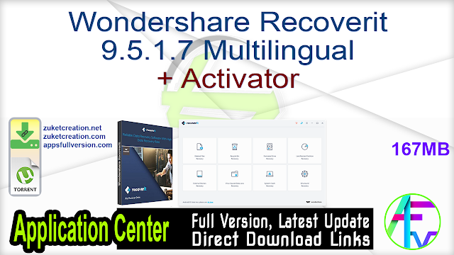 Wondershare Recoverit 9.5.1.7 Multilingual + Activator