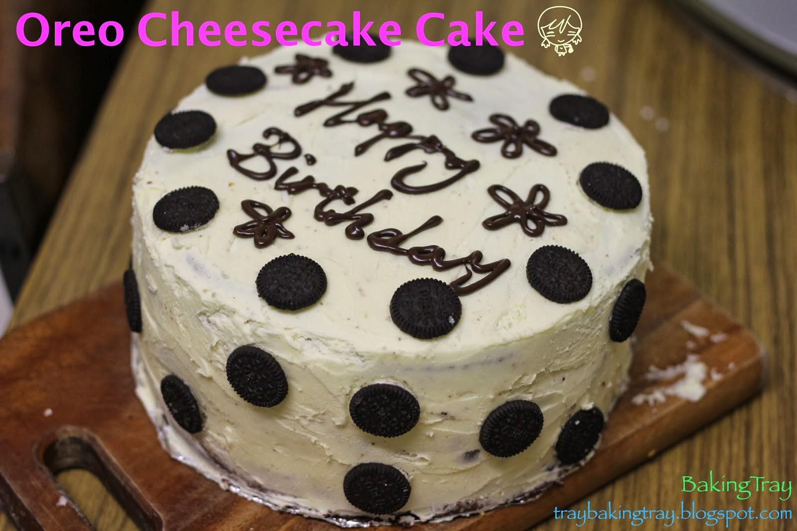 Baking Tray Birthday Bake Oreo Cheesecake Cake