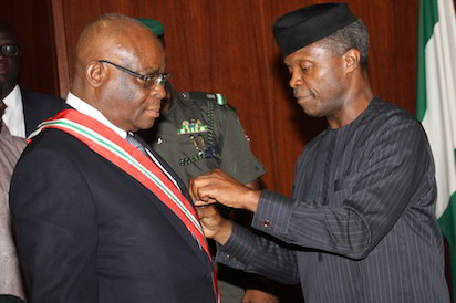 "Strive to have ""global standard of operations"", lawyers tell new CJN, Onnoghen"