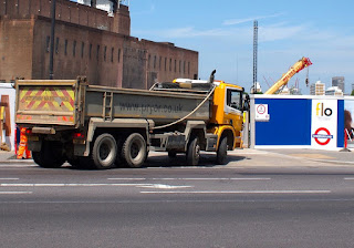 Tipper truck at Battersea Power Station