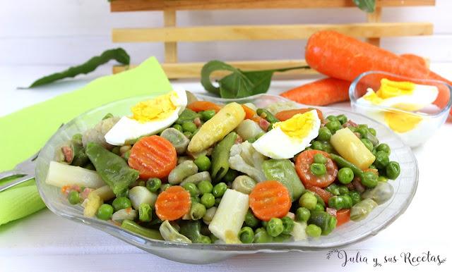 Menestra de verdura. Julia y sus recetas