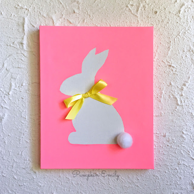 DIY Bunny Silhouette Canvas Art