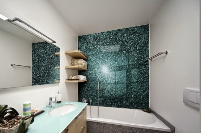 Bathroom without tiles - ideas for tiles free wall design ...