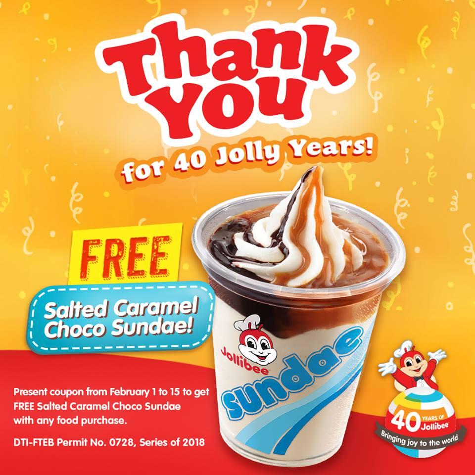 Manila Shopper: Jollibee FREE Salted Caramel Choco Sundae ... Jollibee Sundae