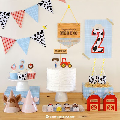kit festa fazendinha aniversario menino