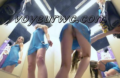 SpyCam 2107-2121 (Shopping Mall changing room. Hidden cam - pretty girls dress up)