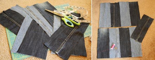 Сумка из джинсов своими руками: фото и выкройки