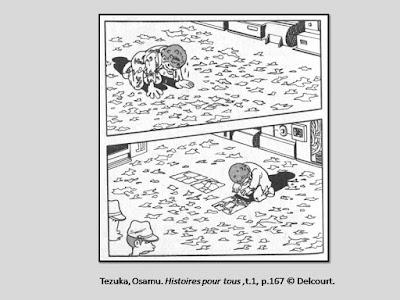 Tezuka, Osamu. Histoires pour tous, t.1. , p.167.  © Delcourt.