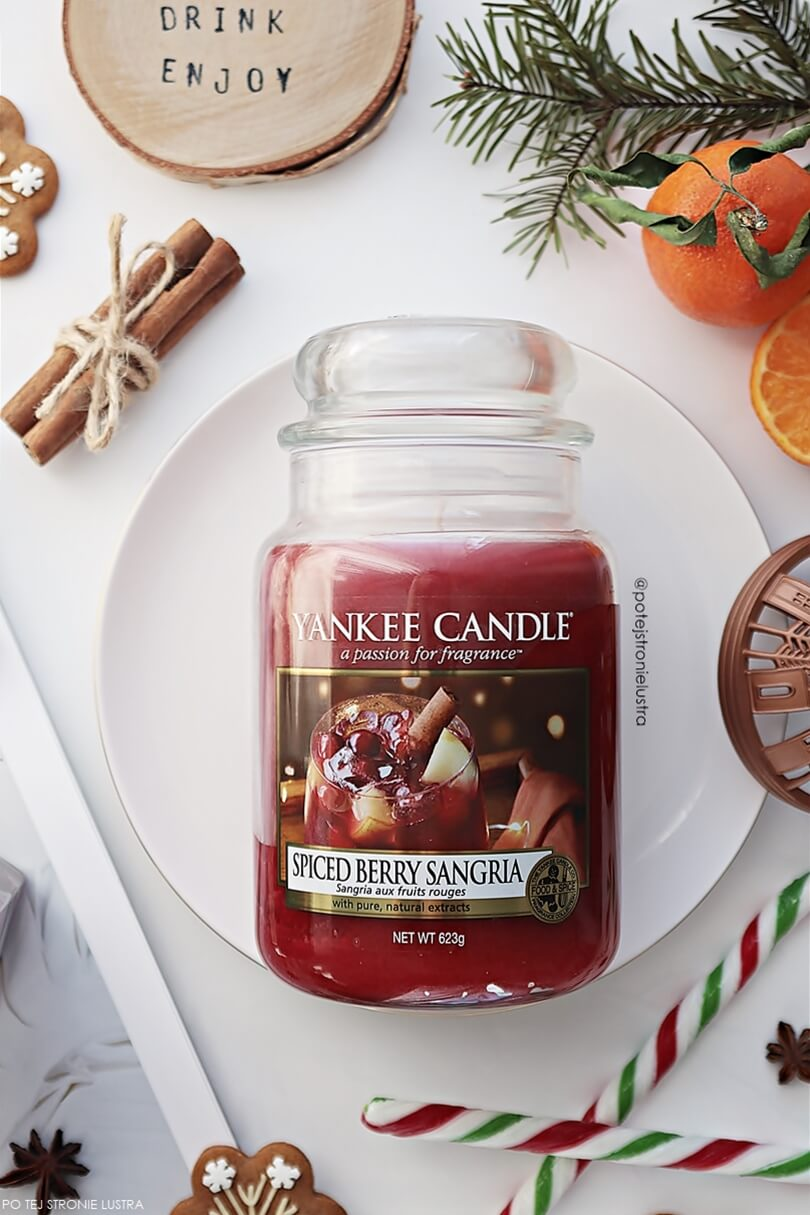 świeca yankee candle spiced berry sangria