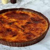 CREME BRULEE TART WITH LILY O'BRIEN'S