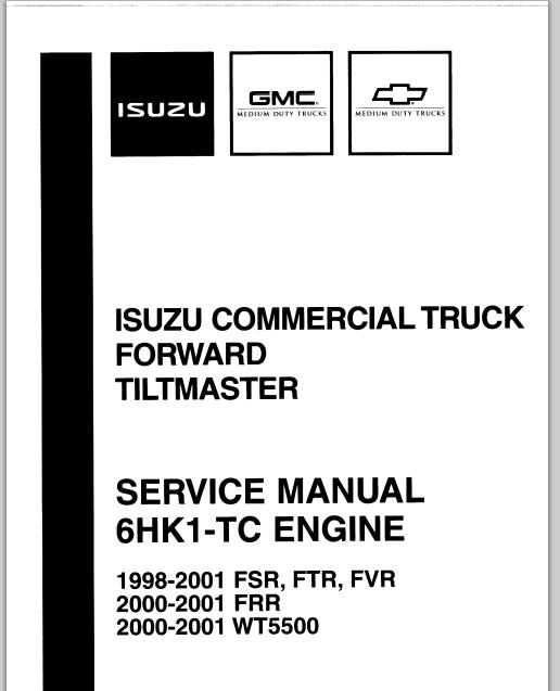 Isuzu 4jh1 tc workshop Manual