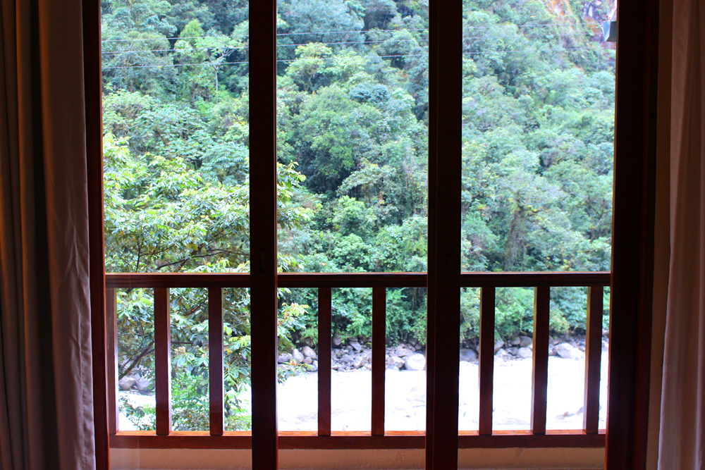View from the Sumaq luxury hotel at Aguas Calientes, Peru - lifestyle & travel blog