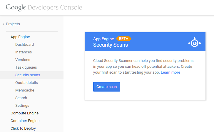 google-cloud-app-engine-security-scan