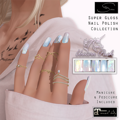 Unicorn & Moonstone Nailpolish @ Stellar