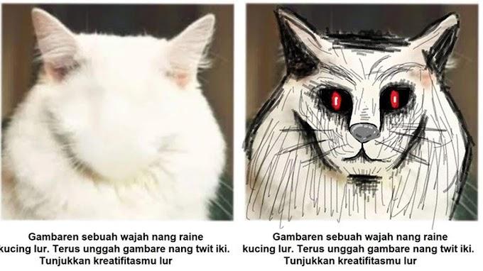 7 Kreativitas Netizen Menggambar Wajah Kucing Ini Hasilnya Bikin Ngakak
