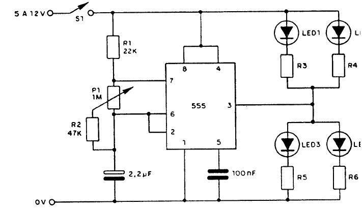 diagrama circuito astable  como hacer un tacometro con