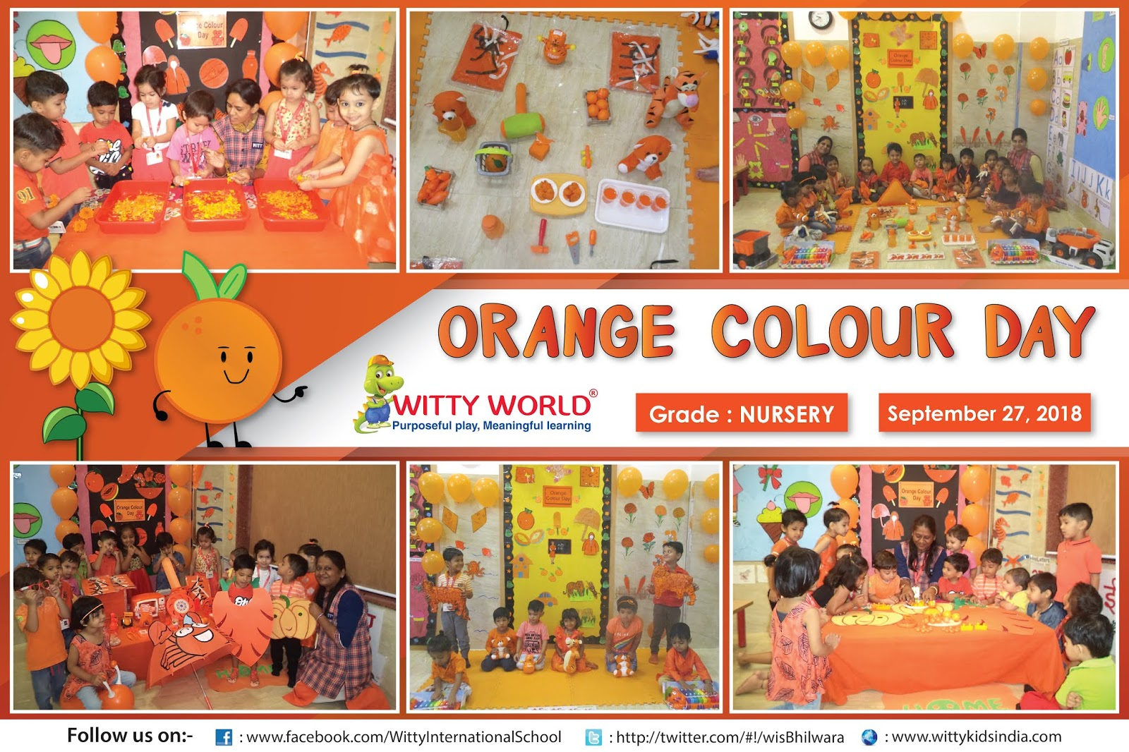 On the top of the World   : Orange Colour Day (Nursery