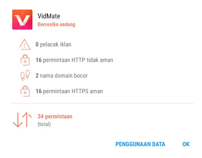 Bahaya Memakai Aplikasi VidMate Pada Android