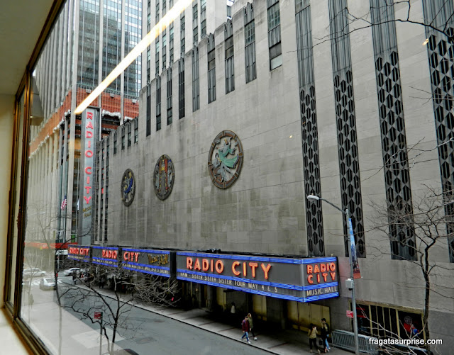 Radio City Music Hall, no Rockefeller Center, Nova York