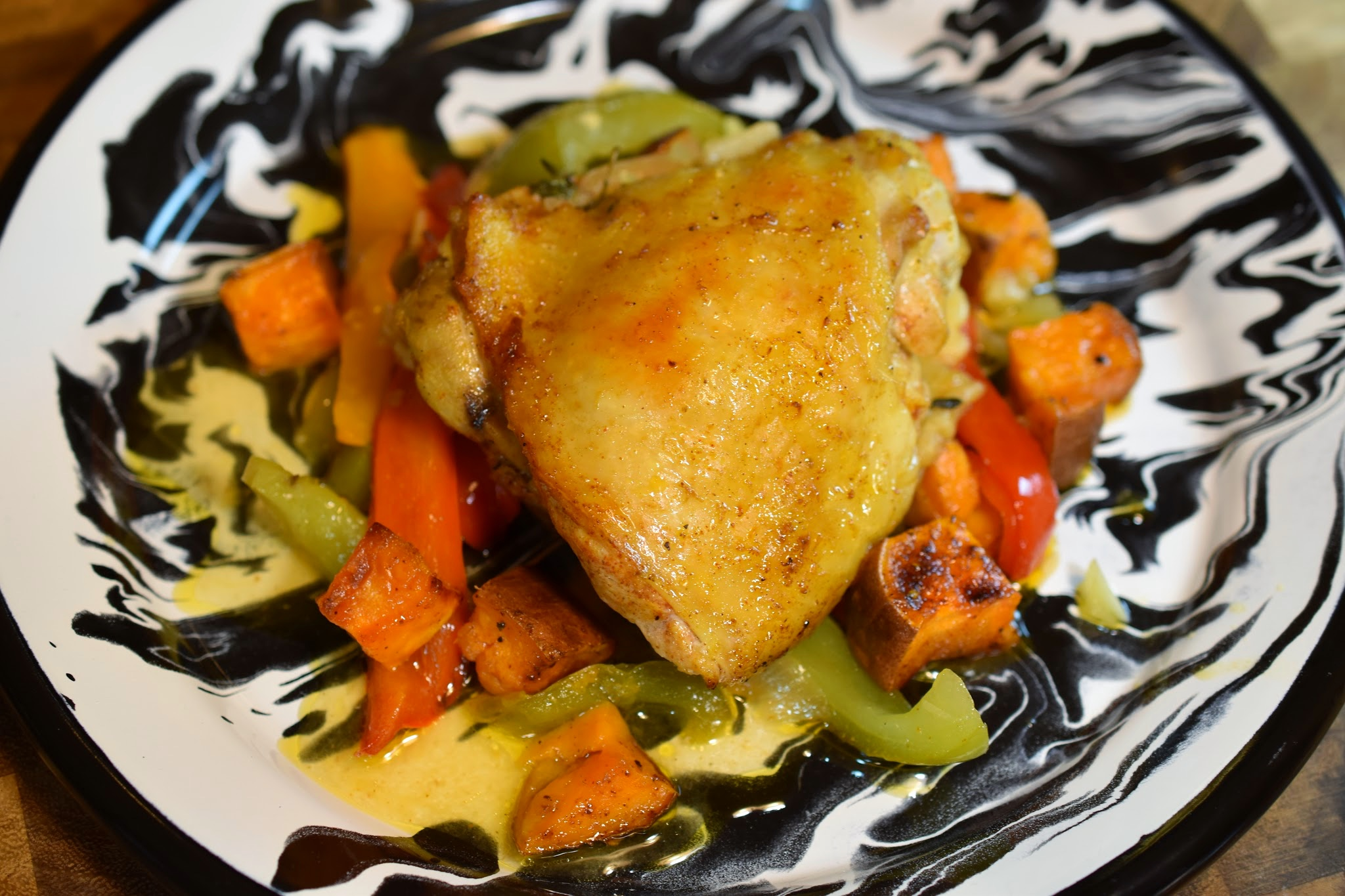 Smoky Sheet Pan Chicken and Vegetables