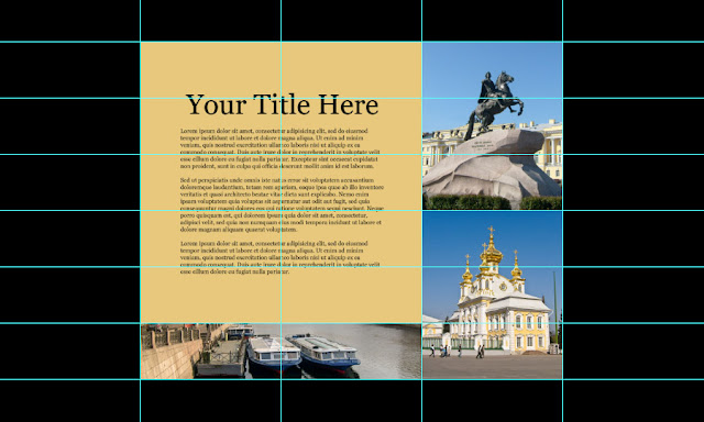 How to Quickly Create Layout With Help of New Guide Layout in Photoshop