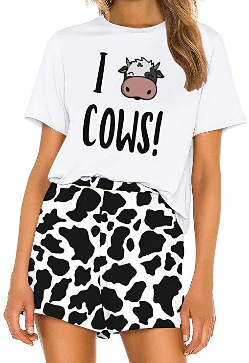 conjunto - pijama - informal - vaca - mujer - vacaslecheras.net