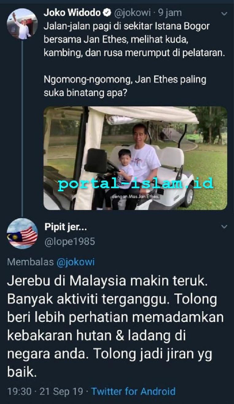 Ngevlog Bersama Cucu di Tengah Bencana Asap, Jokowi Dikecam Warga Malaysia!