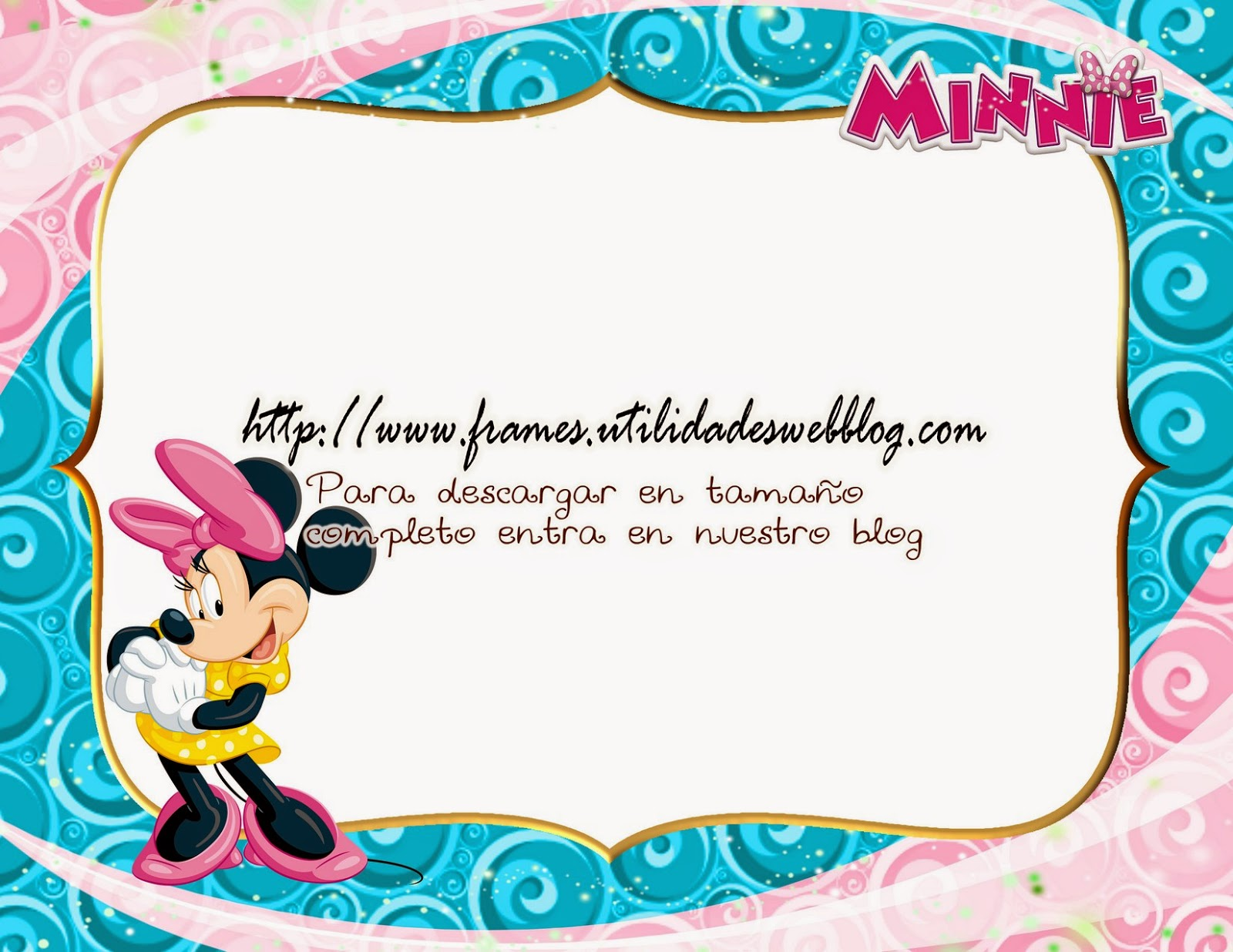 Marco para hacer fotomontajes de Mimi o Minnie Mouse