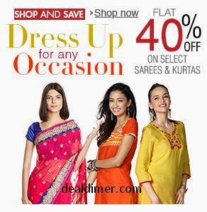 Sarees & Kurtas 40% off from Rs. 230