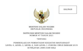 Inilah Wilayah PPKM di Jawa-Bali Periode 5 Hingga 18 Oktober 2021