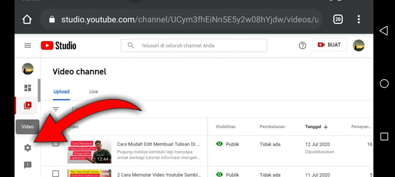 Cara memendekkan url channel youtube