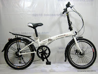 A 20 Inch Gorin Handy Folding 6 Speed Shimano and Disc Brake Folding Bike